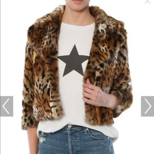 Mother The Boxy Cropped Jacket Leopard Print